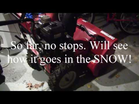 FIX: Sears Craftsman (briggs and stratton) Snow Blower, Stops after a few minutes
