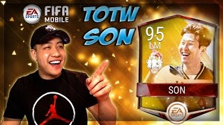 New totw 95 ovr son!! 1.1 million coin totw pack opening!! fifa mobile