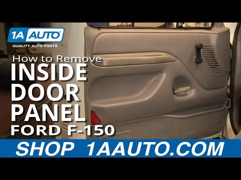 How To Replace Inside Door Panel 92 96 Ford F 150 Youtube