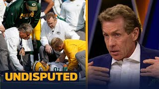 Packers QB Aaron Rodgers breaks collarbone in Week 6 - Skip and Shannon react | UNDISPUTED