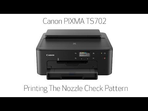 Canon Pixma Ts702 Printing The Nozzle Check Pattern Youtube
