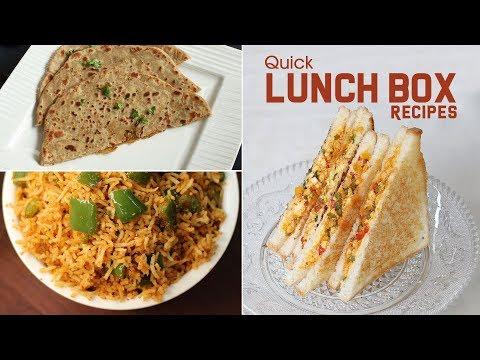 Kid's Lunch Box Recipes | Healthy & Quick Lunch Box Recipes