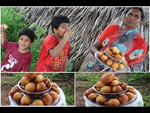 mysore-bonda-recipe-||-prepared-by-my-granny(ammama)-in-telugu-||-granny-village-kitchen