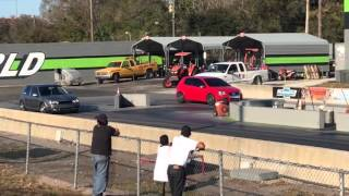 Volkswagen Gti 1.8T stock stage 2 tune first time on the track
