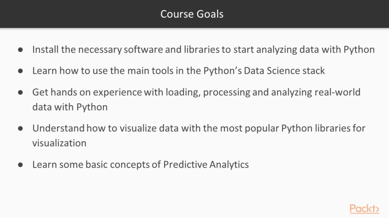 Become a Python Data Analyst : The Course Overview | packtpub com