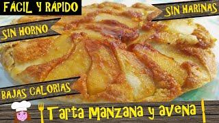 Tarta De Manzana Y Avena Sin Horno Sin Lactosa Bajas Calorias Lista En 15 Rápido Fácil Y Barato Youtube