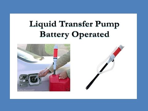 Liquid Transfer Pump - Battery Operated. Great for auto, atv, home, camping, rv, off grid, etc