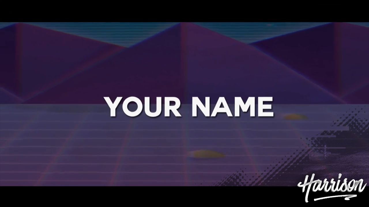 2D Leafy Style Vaporwave Retro 80's Commentary Intro Overlay Template [FREE  DOWNLOAD!]