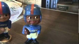 Video 2 of 2 for Box # 97 - NYGiantsMuseum.com -- Bobble Heads -- Nodders -- Ceramic Helmets...