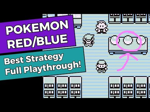 Pokemon Red/Blue - Best Strategy Full Playthrough!