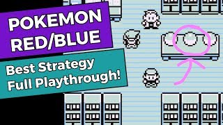 Pokemon Red/Blue - Best Strategy Full Playthrough!
