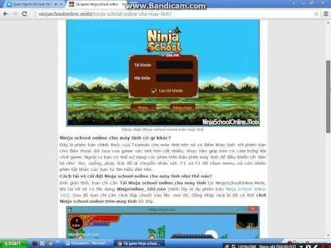 cách tải ninja school hack về máy tính - Cách tải game ninja school về máy tính nhớ xem nha !!