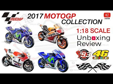 Reviewing Top 4 Motogp Championship 1/18 scale Die cast Super bikes by Dnation