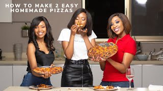 Let's Make 2 Homemade Pizzas With The Girls & They Answer Your Instagram Questions