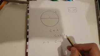 Proving that the circumference of a circle is pi * d using the constant of proportionality.