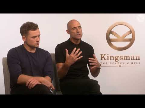 Kingsman: The Golden Circle's Taron Egerton and Mark Strong talk about fame, friendship and bases