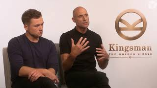 Kingsman: The Golden Circle's Taron Egerton and Mark Strong talk about fame, friendship and fanbases