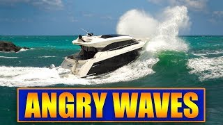 Boats vs ANGRY WAVES at Haulover Inlet