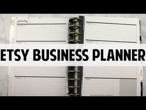 Etsy Business Planner Flip Through January 2018
