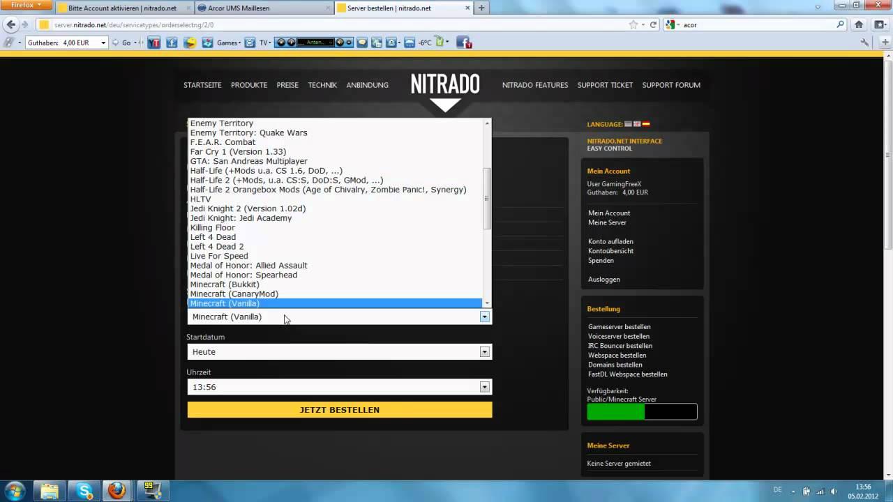 Nitradonet Server Erstellen Und Einstellungen YouTube - Nitrado minecraft server whitelist erstellen