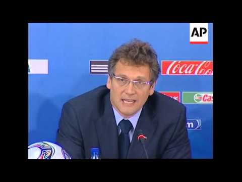 News briefing on South Africa's preparation for World Cup