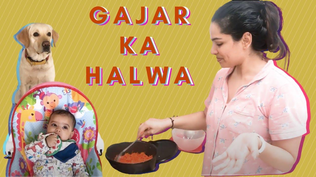 How To Make Gajar Ka halwa   Punjabi Style Recipe   Carrot Halwa   Without Khoya  Shikha Singh Vlogs