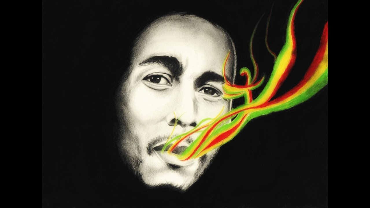 Drawing bob marley