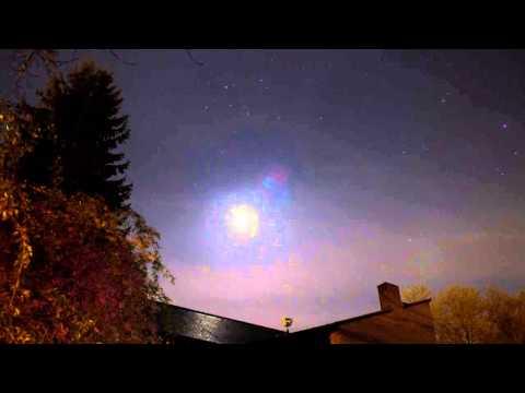 mond wolken time lapse HD
