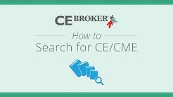 CE Broker - How to use the Course Search