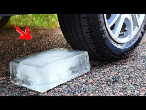 Crushing Crunchy & Soft Things by Car! - Car vs Ice
