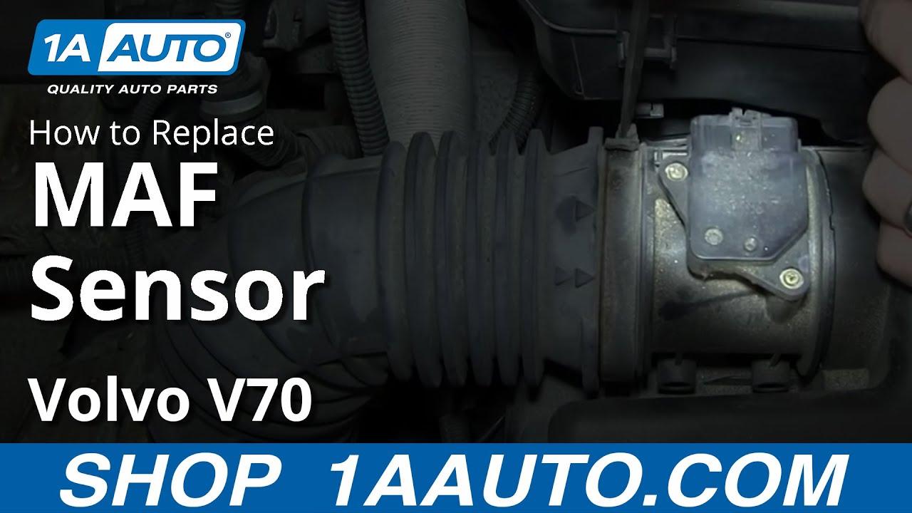 how to install replace mass air flow sensor maf volvo v70 - youtube