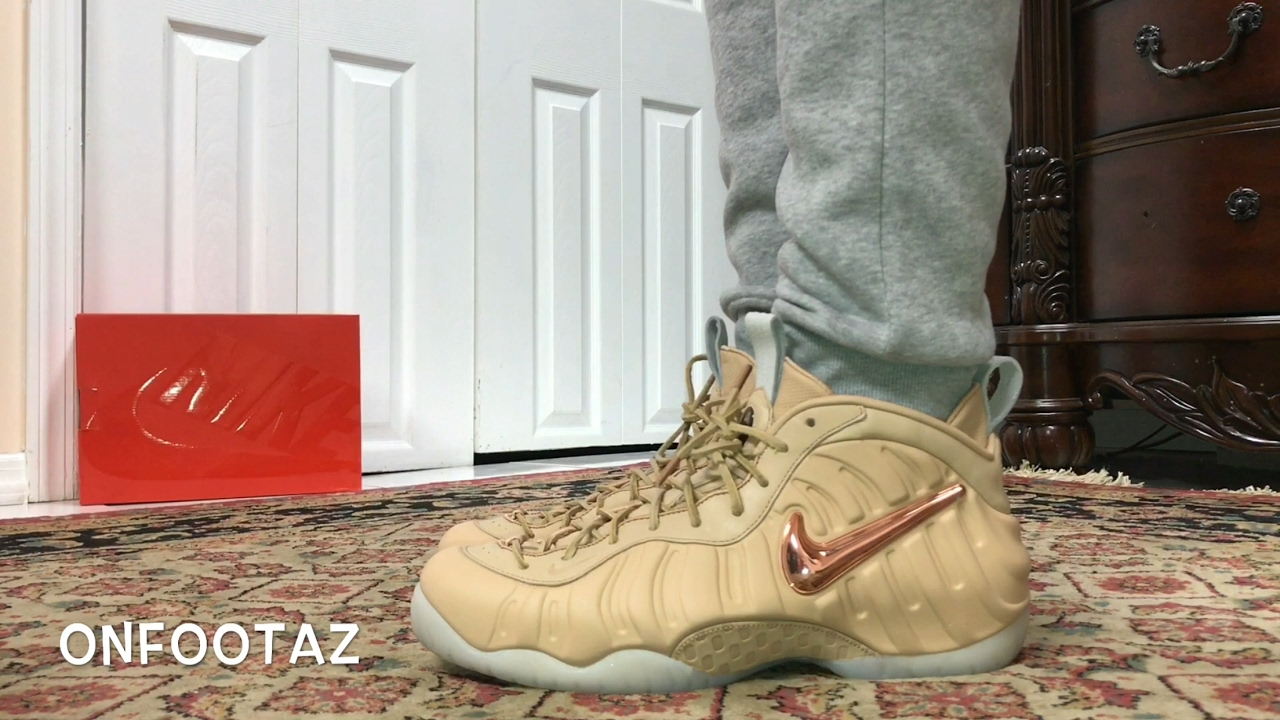 460fa8df077 Nike Air Foamposite Pro All Star Vachetta Tan On Foot - YouTube