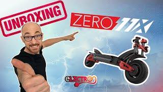 ZERO 11X unboxing ZERO RIDER TROTTINETTE ELECTRIQUE COMPETITION FREESTYLE PUISSANTE ZERO11X