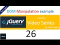 jquery tutorial series (Hindi) - 26 Dynamically adding items to list example