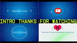 Download Thanks For Watching- Intro [Penutup Video] Free