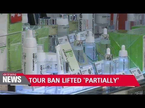 China 'partially' lifts tour ban on S. Korea