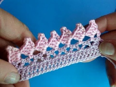 ... ???? 266 - ????? - 7 Crochet border edging - YouTube