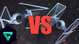Space Engineers : Tie Fighter Vs Tie Interceptor | Star Wars | Fighter Ship Showdown #4