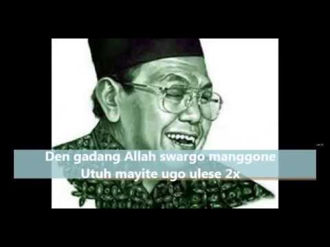 SHOLAWAT SYI'IR TANPO WATON GUSDUR FULL LIRIK TEKS ARAB JAWA INDONESIA