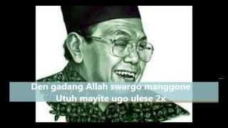 Download SHOLAWAT SYI'IR TANPO WATON GUSDUR FULL LIRIK TEKS ARAB JAWA INDONESIA