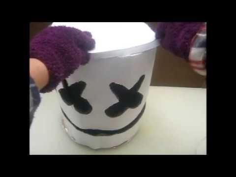 Casco De Marshmello Hecho Con Cartón