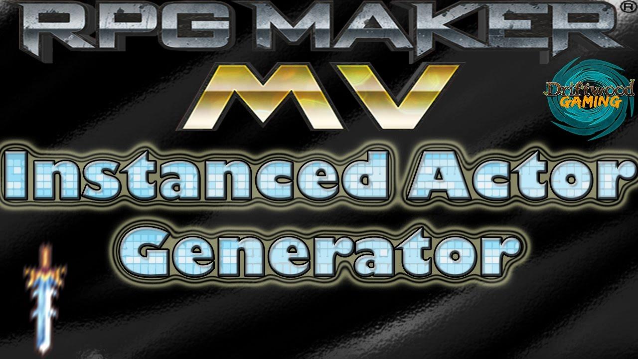 Instanced Actor Generator - HIME_InstanceActors - RPG Maker MV Tutorial