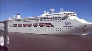 Pacific Dawn | Departure from Brisbane port.