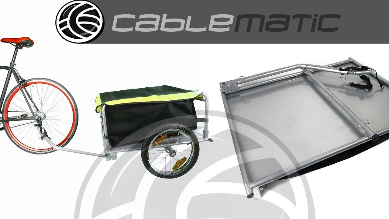 Remolque de bicicleta para carga de 40Kg plegable distribuido por ...