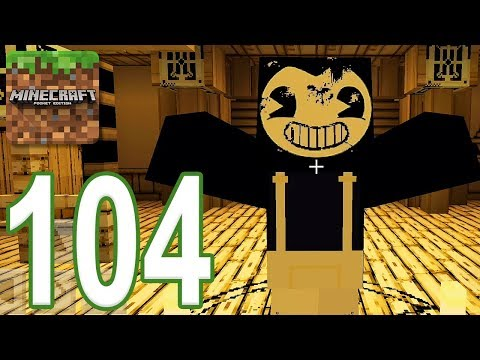 Minecraft: PE - Gameplay Walkthrough Part 104 - Bendy Game Horror (iOS, Android)