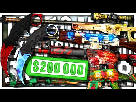 TOP 10 MOST EXPENSIVE CS:GO SKINS EVER ($200.000+)