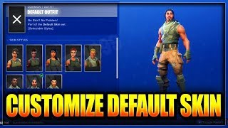 HOW to switch default skins in Fortnite Battle Royale! (EASY)
