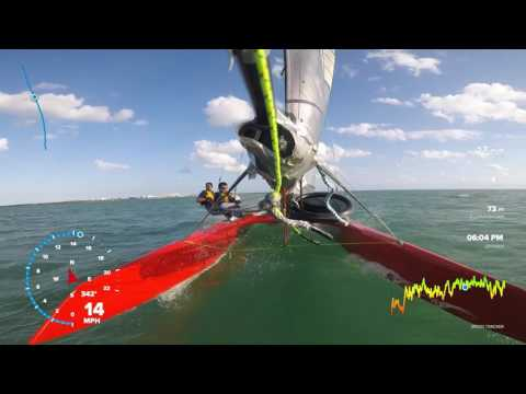 Sailing with Pablo - to the beat of the drums! Whisper Foiling catamaran