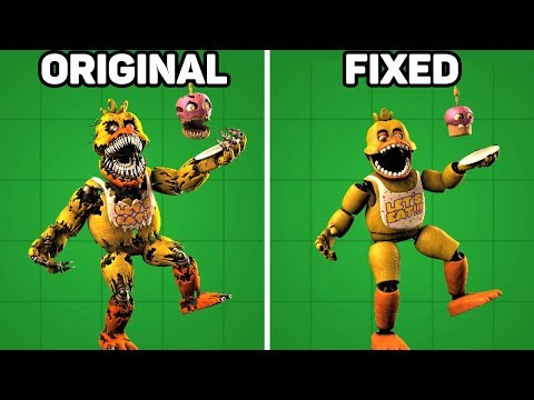 Fixed VS. Original Animatronics in Five Nights at Freddy's #1