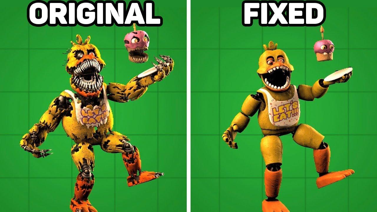 Download Fixed VS. Original Animatronics in Five Nights at Freddy's #1